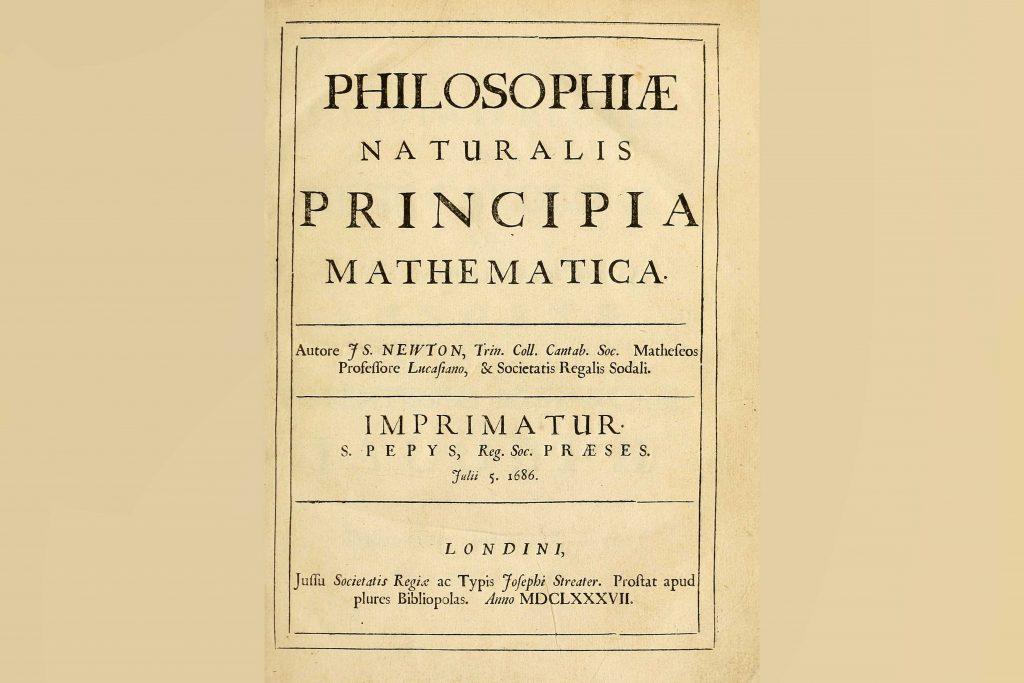 """Primjer prvog izdanja """"Matematičkih principa"""", Foto: Wikipedia"""